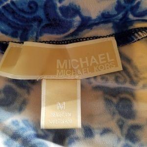 Michael Kors Skirts - Michael Kors Blue & White Maxi Skirt Size M